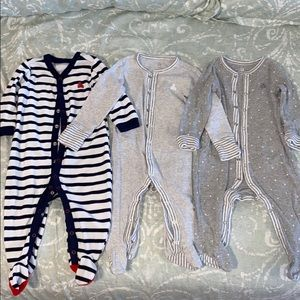 Bundle 3-GAP Boys 3-6 month Footie Onesie Pajamas